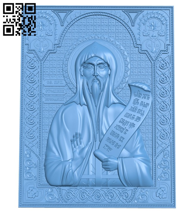 Icon Nikita the Stylite A005540 download free stl files 3d model for CNC wood carving