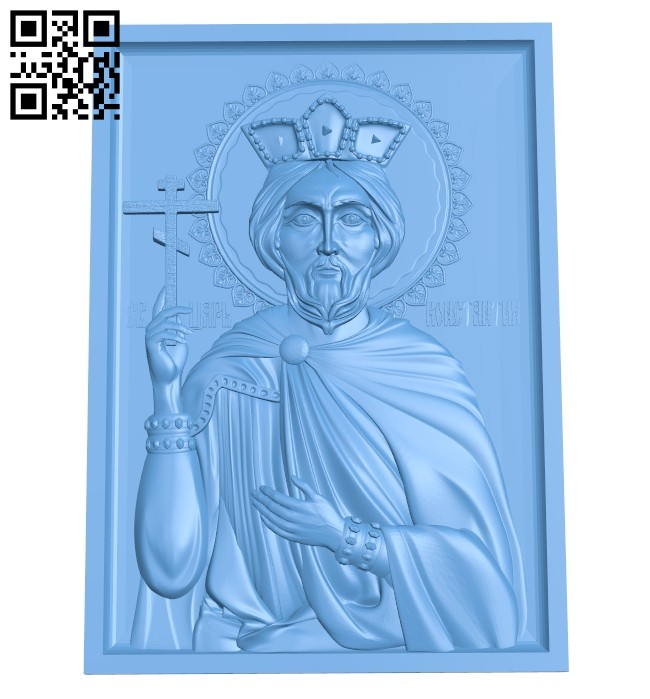 Icon Saint Constantine A005542 download free stl files 3d model for CNC wood carving