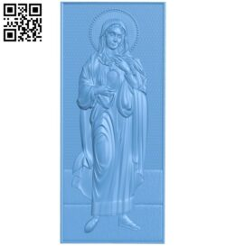 Icon Saint Mary A005539 download free stl files 3d model for CNC wood carving
