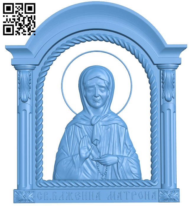 Icon Saint Matrona A005445 download free stl files 3d model for CNC wood carving