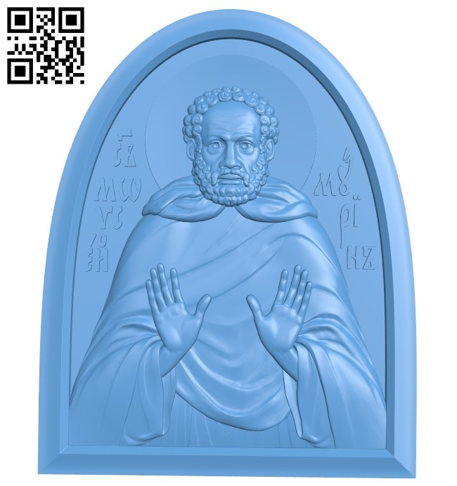 Icon Saint Moses Murin A005446 download free stl files 3d model for CNC wood carving