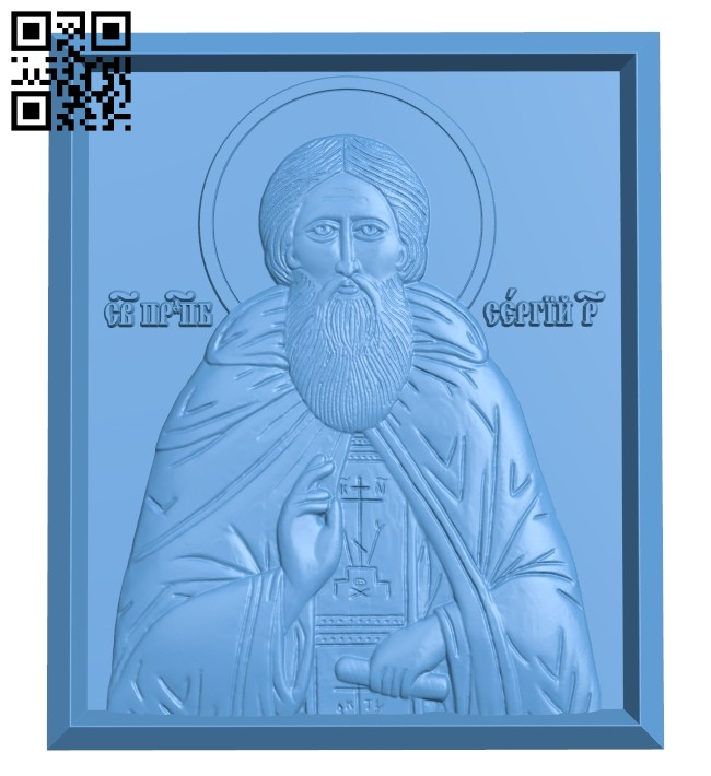 Icon Sergius A005538 download free stl files 3d model for CNC wood carving