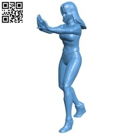 Invisible Woman B008617 file stl free download 3D Model for CNC and 3d printer