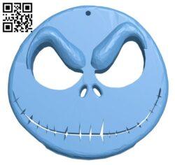 Jack's head B008338 file stl free download 3D Model for CNC and 3d printer