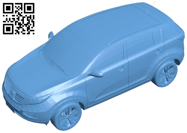 Kia Sportage - car B008489 file stl free download 3D Model for CNC and 3d printer