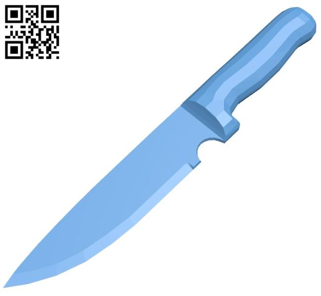 Kitchen Knife B008480 File Stl Free Download 3d Model For Cnc And 3d Printer Download Stl Files Obj Files