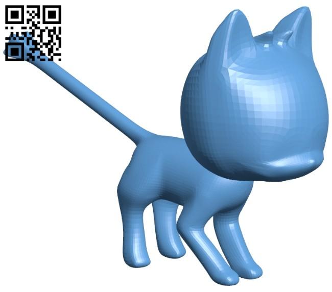Kitten cat B008331 file stl free download 3D Model for CNC and 3d printer