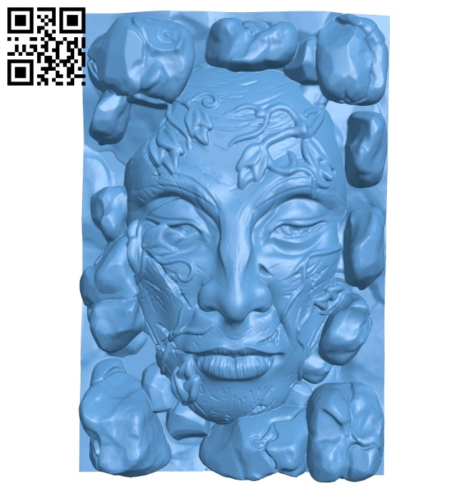 Large face B008487 file stl free download 3D Model for CNC and 3d printer