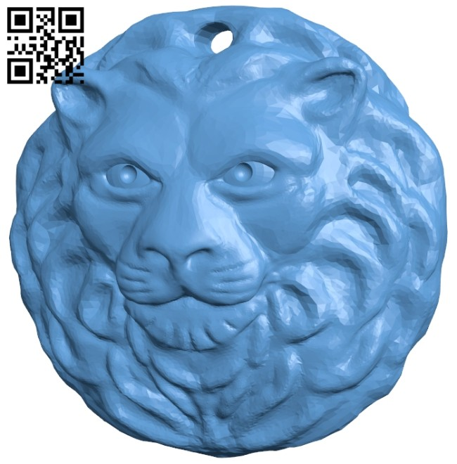 Lion keychain B008384 file stl free download 3D Model for CNC and 3d printer