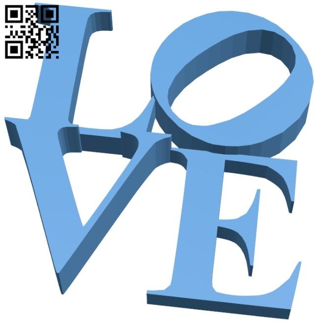 Love B008538 file stl free download 3D Model for CNC and 3d printer