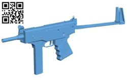 Machine gun B008358 file stl free download 3D Model for CNC and 3d printer