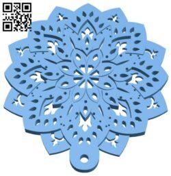 Mandala pendant B008422 file stl free download 3D Model for CNC and 3d printer