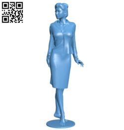 Mannequin business woman B008587 file stl free download 3D Model for CNC and 3d printer