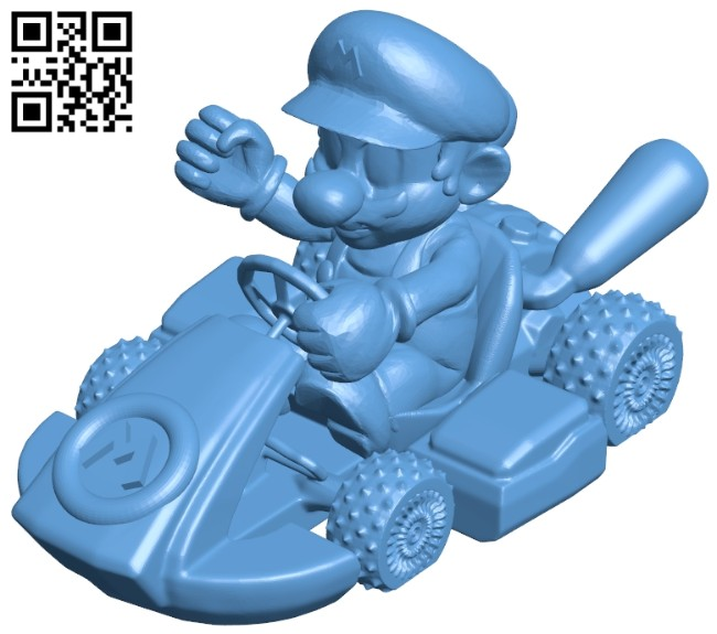 Mario kart B008420 file stl free download 3D Model for CNC and 3d printer