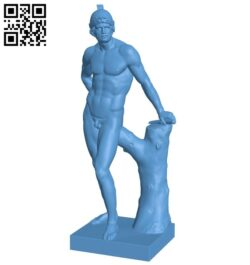 Mars war god statue B008405 file stl free download 3D Model for CNC and 3d printer