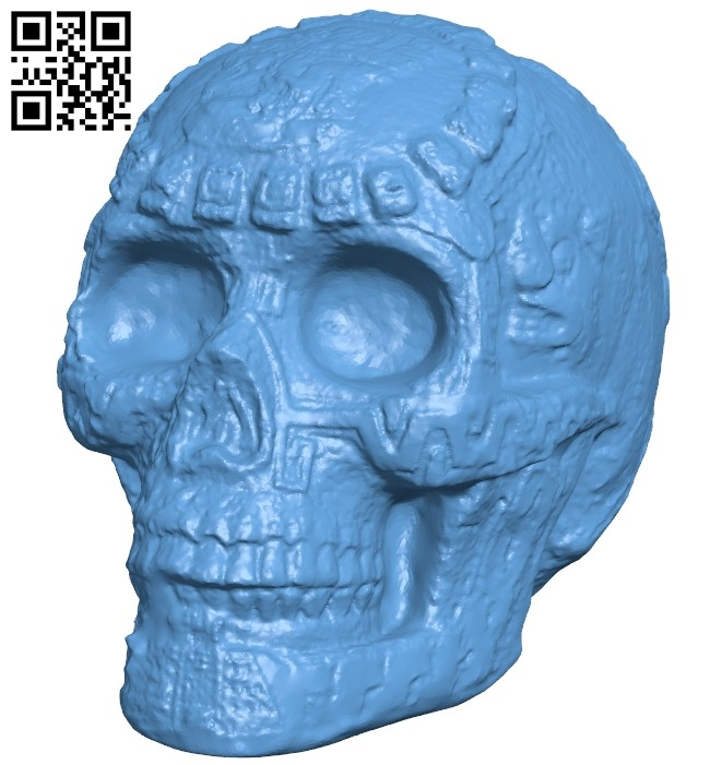 Mayan skull B008438 file stl free download 3D Model for CNC and 3d printer
