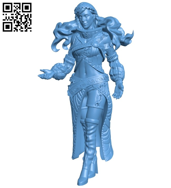 Mini girl B008407 file stl free download 3D Model for CNC and 3d printer