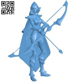 Miss Ashe B008580 file stl free download 3D Model for CNC and 3d printer