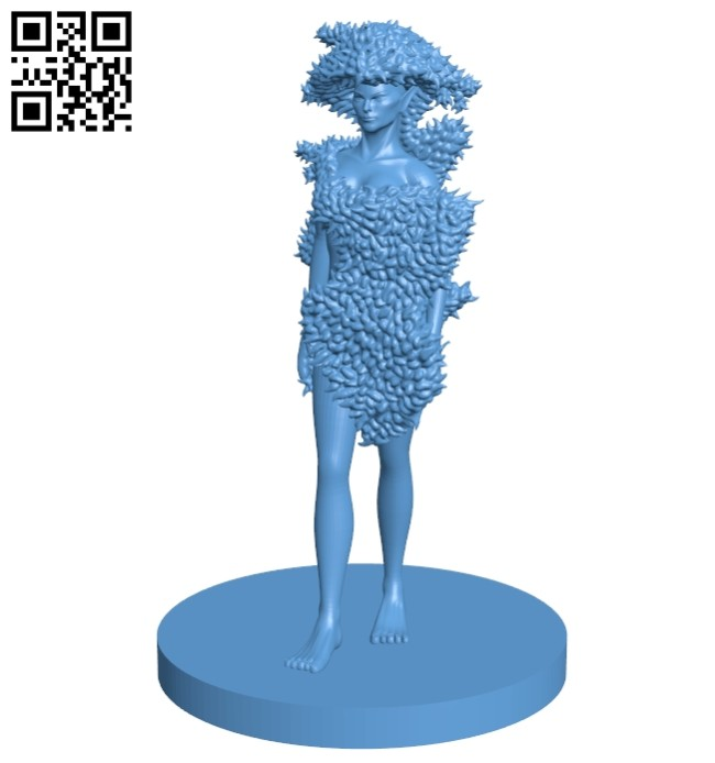Miss Dryad B008333 file stl free download 3D Model for CNC and 3d printer