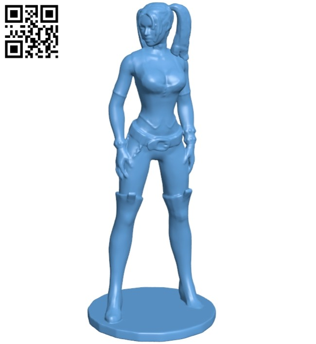 Miss Harley B008556 file stl free download 3D Model for CNC and 3d printer
