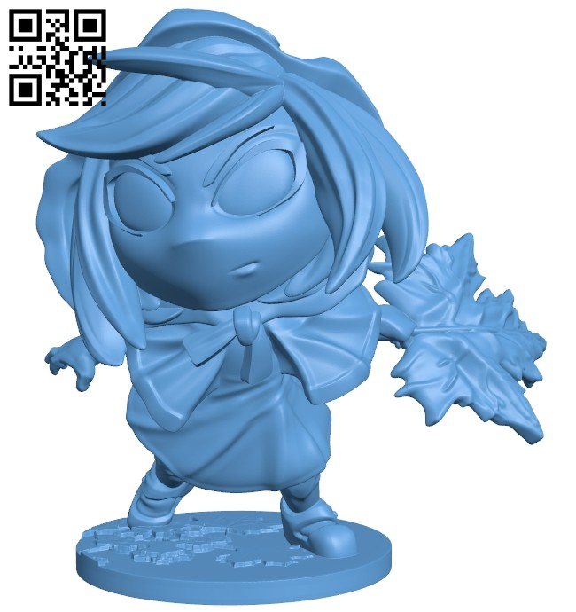 Miss Kaho B008406 file stl free download 3D Model for CNC and 3d printer