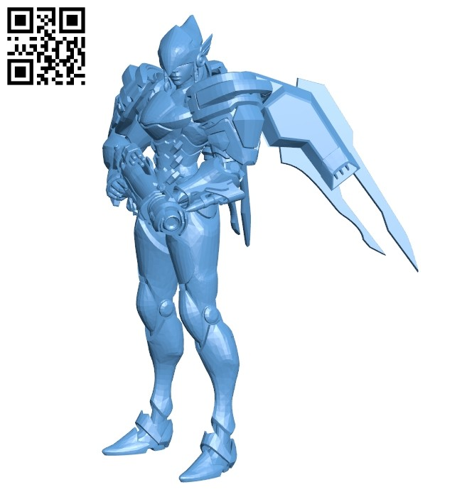 Miss Pharah B008435 file stl free download 3D Model for CNC and 3d printer