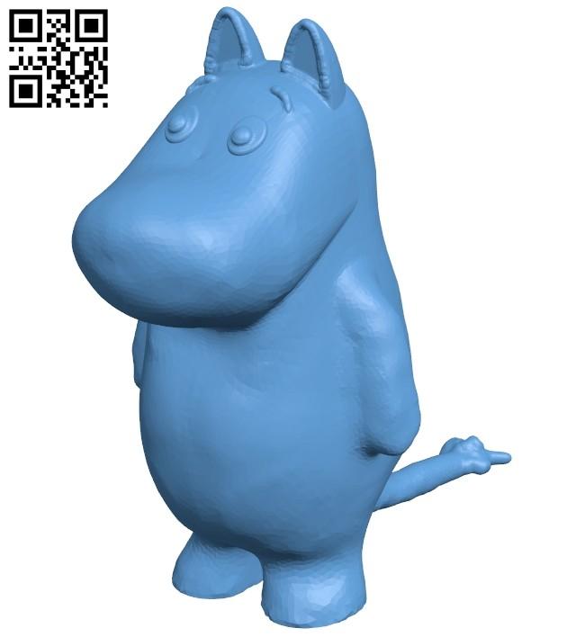 Moomin B008467 file stl free download 3D Model for CNC and 3d printer