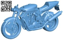 Motorcycle suzuki street fighter B008560 file stl free download 3D Model for CNC and 3d printer
