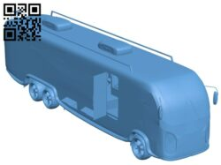 Motorhome – bus B008398 file stl free download 3D Model for CNC and 3d printer