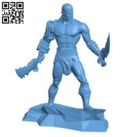 Mr Kratos B008564 file stl free download 3D Model for CNC and 3d printer