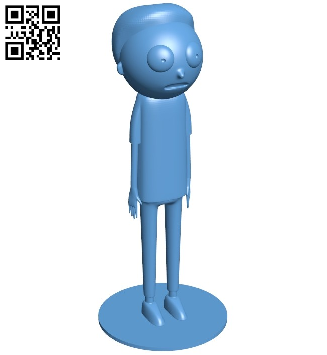 Mr Morty B008458 file stl free download 3D Model for CNC and 3d printer