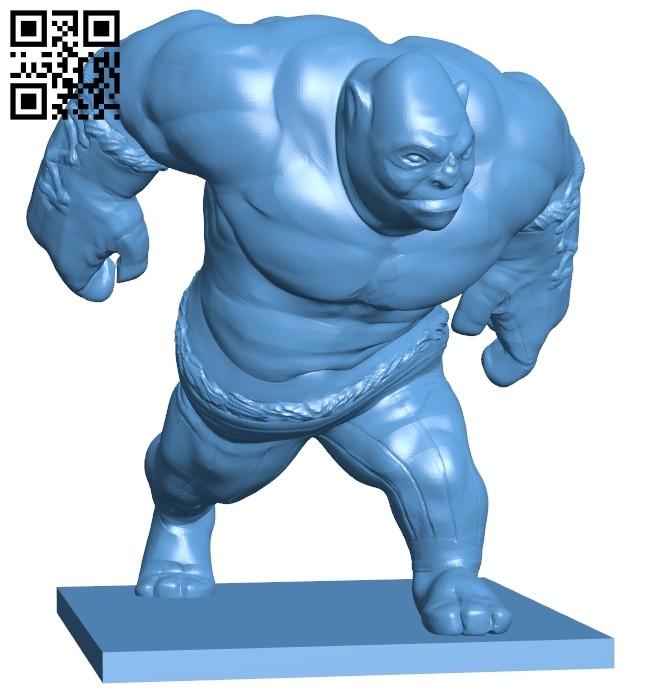 Mr Ogre action B008539 file stl free download 3D Model for CNC and 3d printer