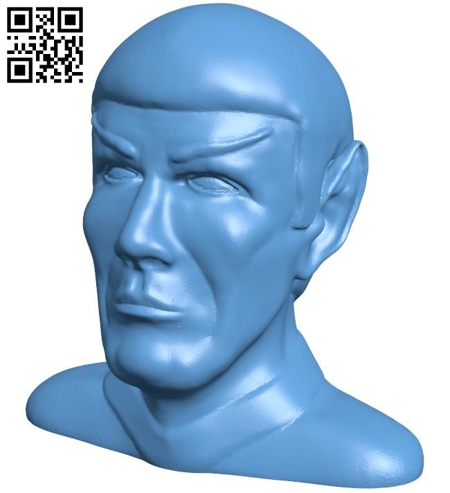 Mr Spock - head B008448 file stl free download 3D Model for CNC and 3d printer