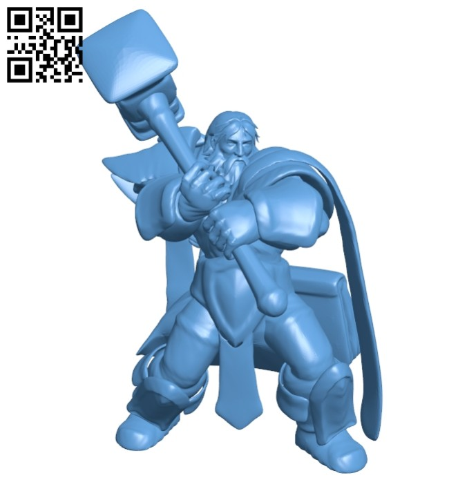 Mr uther attack repaired B008423 file stl free download 3D Model for CNC and 3d printer