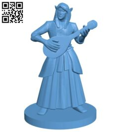 Mrs Elven Bard B008558 file stl free download 3D Model for CNC and 3d printer