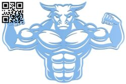 Muscle bull B008474 file stl free download 3D Model for CNC and 3d printer