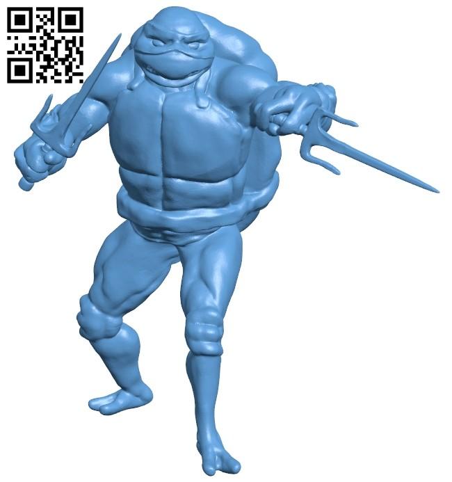 Ninja Turtles - Raph B008501 file stl free download 3D Model for CNC and 3d printer
