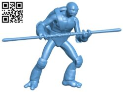 Ninja turtles holding sticks B008543 file stl free download 3D Model for CNC and 3d printer