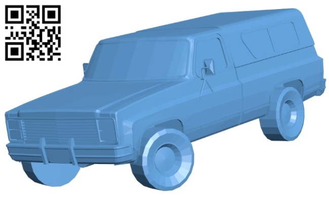 Old car SUV B008346 file stl free download 3D Model for CNC and 3d printer