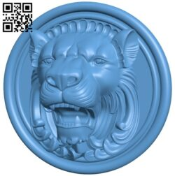 Pattern – Lion head A005641 download free stl files 3d model for CNC wood carving