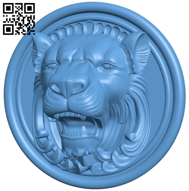 Pattern - Lion head A005641 download free stl files 3d model for CNC wood carving