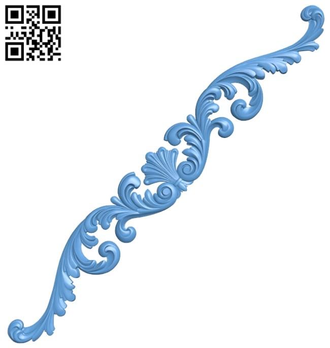 Pattern decor design A005515 download free stl files 3d model for CNC wood carving