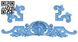 Pattern decor design A005640 download free stl files 3d model for CNC wood carving