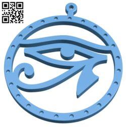 Pendant eye of horus B008509 file stl free download 3D Model for CNC and 3d printer