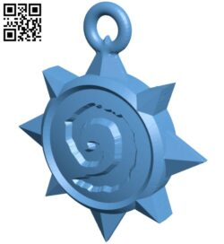 Pendant shaped game icon B008550 file stl free download 3D Model for CNC and 3d printer