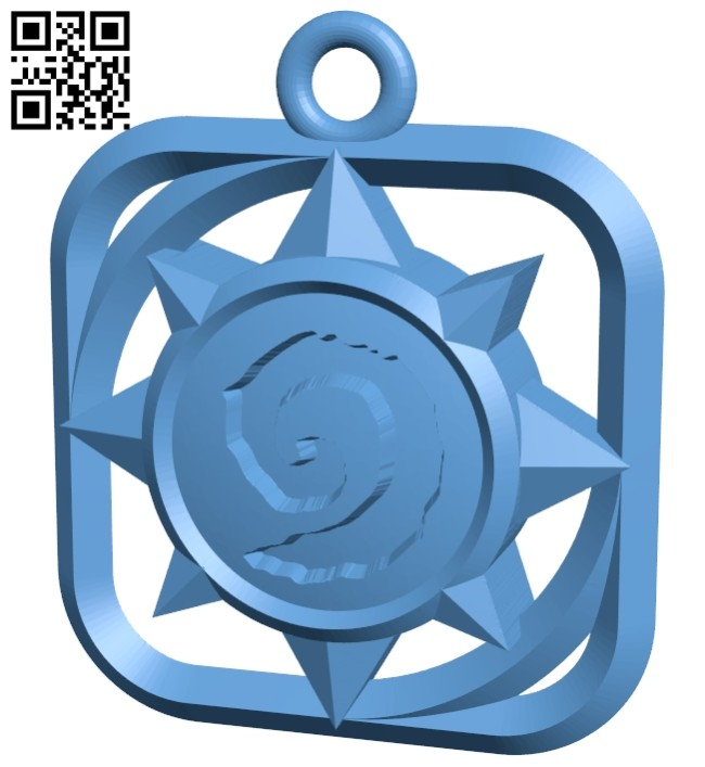 Pendant shaped game icon B008551 file stl free download 3D Model for CNC and 3d printer