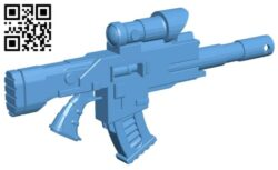 Phobos boltgun – gun B008515 file stl free download 3D Model for CNC and 3d printer