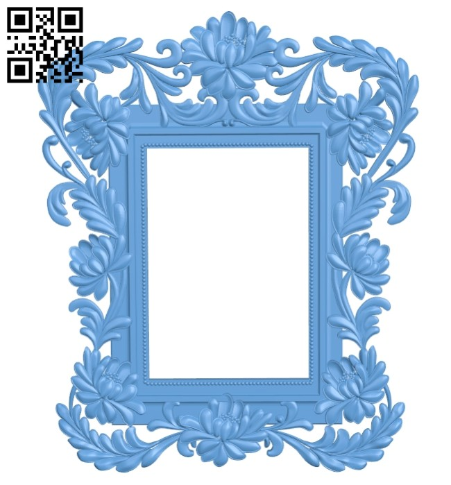 Picture frame or mirror A005438 download free stl files 3d model for CNC wood carving