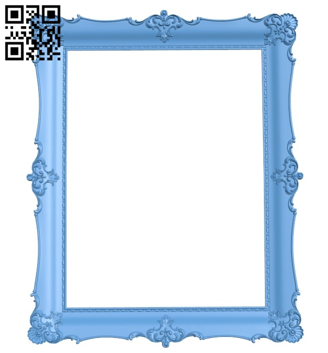 Picture frame or mirror A005439 download free stl files 3d model for CNC wood carving
