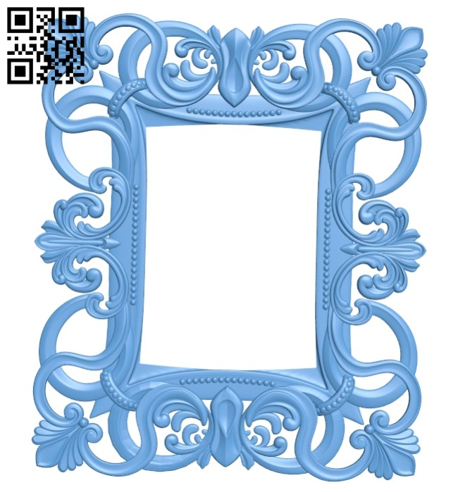 Picture frame or mirror A005440 download free stl files 3d model for CNC wood carving